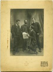 With friends in Mantua, 1898.