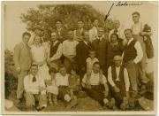 Scalarini with family and others confined in Ustica, 1927.
