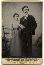 With wife Carolina at Capodistria in 1903.